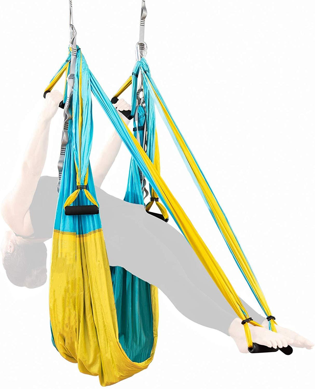 20 Color 2.5*1.5 M Aerial Yoga Hammock Anti gravity Inversion Swing Trapeze Yoga Extend Belt Ceiling Hanging Tray for Home Gym|Yoga Belts|   - AliExpress