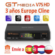 Fhd 1080P Gtmedia V7S Hd Cccam Cline Satelliet Tv Ontvanger Gratis 3 Jaar Europa Cline Spanje Upgrated Freesat V7 hd Tv Decoder(China)