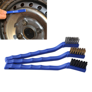 Car Engine Cleaning Brush Car Rim Wheel Tire Cleaning Multi Function Handle Mane Brushes Car Cleaning image