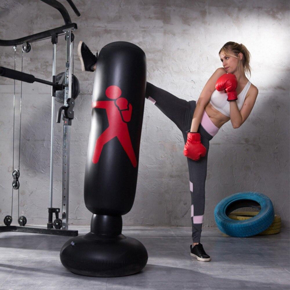 /épaissir Sac de Boxe Gonflable de Boxe gobelet autoportant Fitness Stress Release pour Adultes Enfants Vbest life Sac de Sable avec Patch Repaire