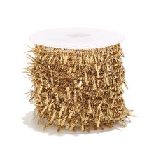 Clips dorados de acero inoxidable de 1 metro, cadenas para tobillera, fabricación de joyas, suministros artesanales