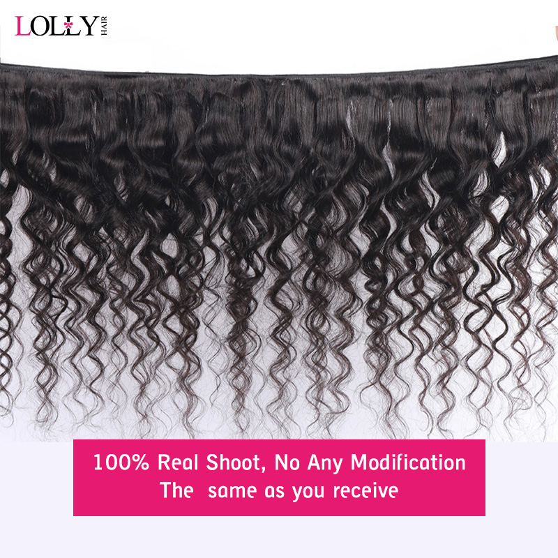HD Transparent Lace Closure with Bundles Brazilian Loose Deep Wave Bundles with Closure Lolly Human Hair Bundles with Closure