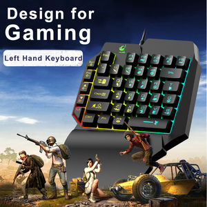 Image 2 - Left Hand Keyboard Single Hand Keyboard Mechanical Feel Game Keyboard for Mobile Tablet Laptop PUBG Game
