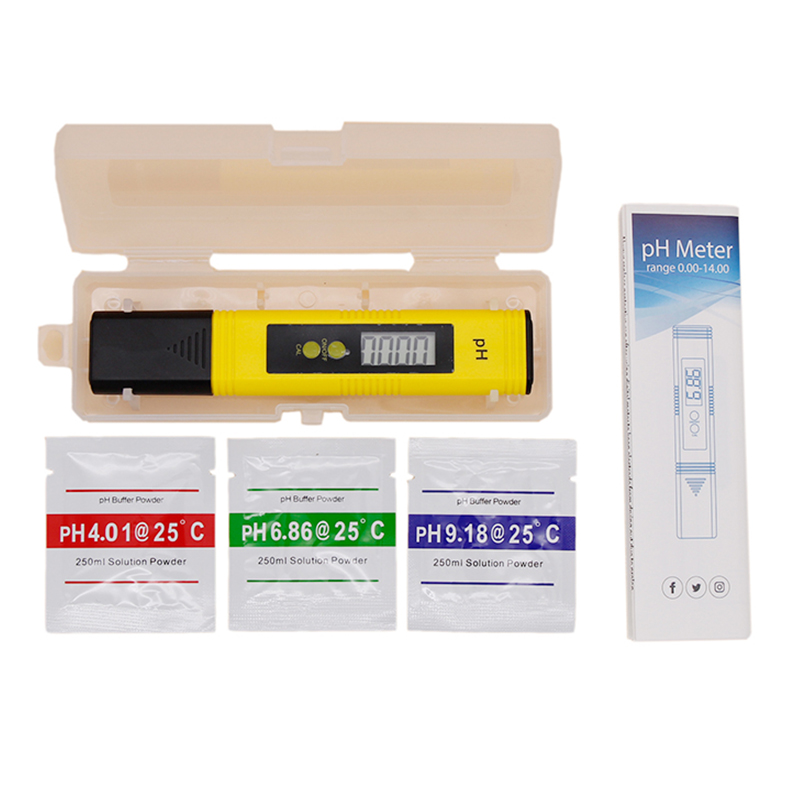 Pen Style Digital LCD PH Meter 0-14  Accuracy 0.1 Aquarium Pool Water Homebrew Beer Wine Urine Automatic Calibration