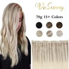 Vesunny цельный зажим для наращивания волос 100% натуральные