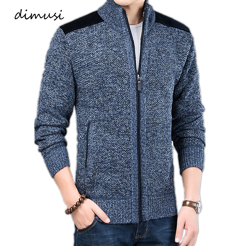 DIMUSI Winter Mens Sweaters Casual Men Thick Warm Knitted Sweaters Cardigan Coats Male Slim Fit Knitted Jackets Brand Clothing