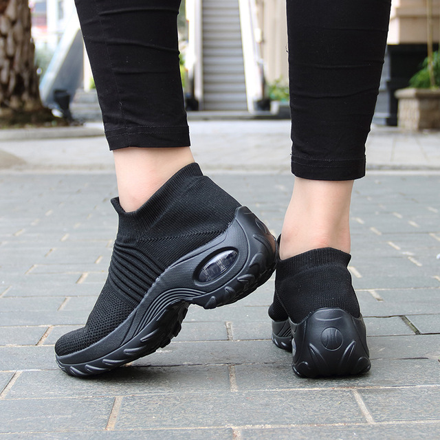 2020 Spring Women Sneakers Shoes Flat Slip on Platform Sneakers for Women