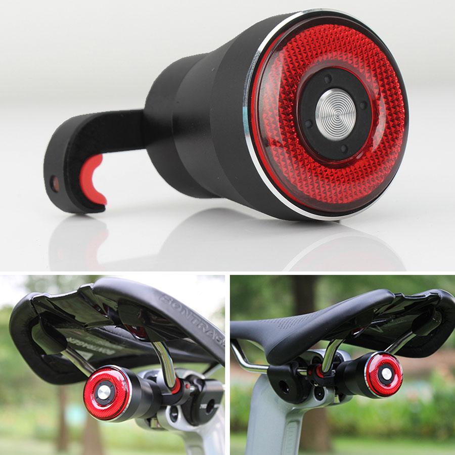 Cycling Taillight Bicycle Flashlight MTB Bike Rear Light Auto Start/Stop Brake Sensing IPX6 Waterproof LED Charging Safety Warm