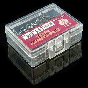 Image 2 - 100 Pezzo/scatola di Ganci In Acciaio Alto Tenore di Carbonio con Ganci Lago di segnalazione di Pesca Marine Ganci Efficiente Spinato Gancio di Pesca