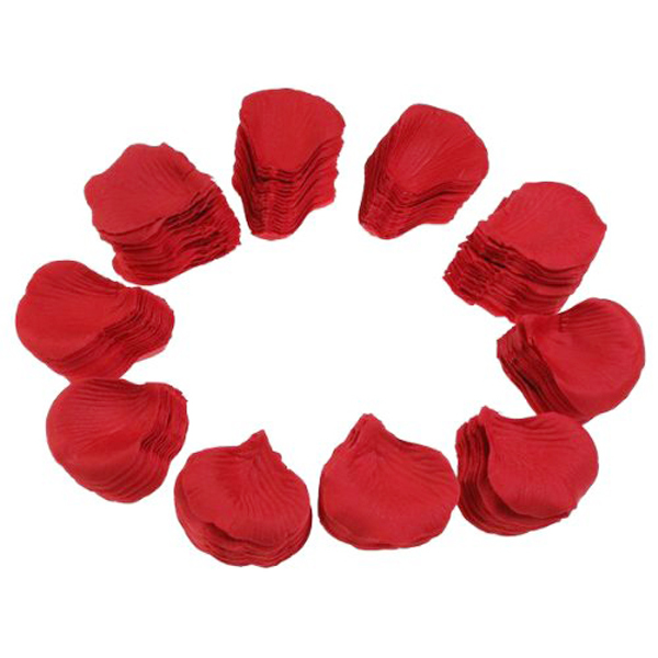 BGW 20135ht New Arrivals 500pcs Lifelike Fake Artificial Silk Red Rose Petals Decorations For Wedding Party Decor