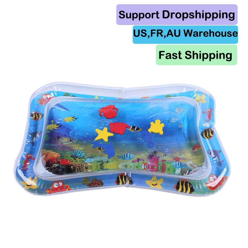 Baby Play Water Mat Inflatable Infants Tummy Time Playmat Toys Toddler Activity Play Center Water Mat Support Dropshipping