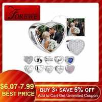 100% authentische 925 Sterling Silber Perle Charme Fit Original Pandora Armband DIY Custom Foto Kristall Herz Perlen Schmuck Machen