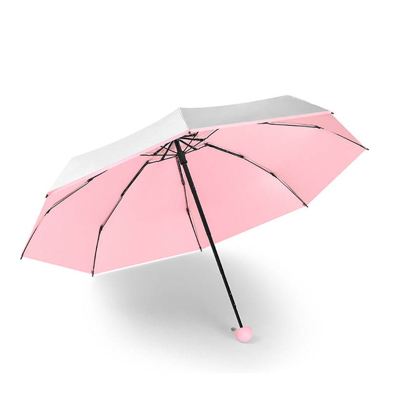 Image 4 - Mini Pocket Umbrella Women Titanium Silver Glue UV Small Umbrellas Rain Women Waterproof Men Sun Parasol Convenient Girls Travel-in Umbrellas from Home & Garden