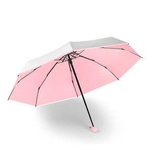 Image 4 - ミニポケット傘女性チタンシルバー糊 Uv 小傘雨女性防水男性太陽パラソル便利女の子旅行