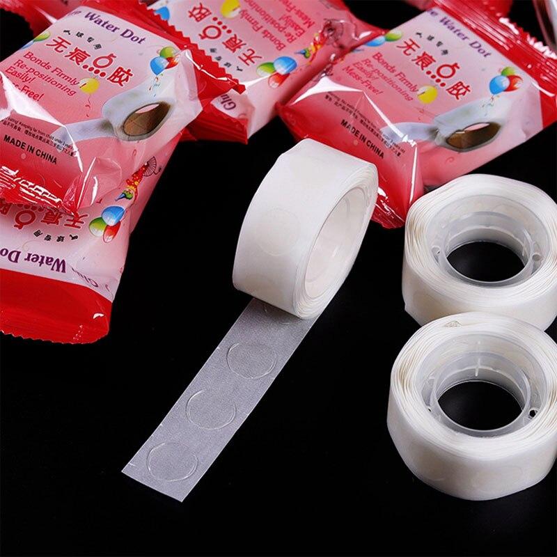 Лидер продаж, суперклейкий двусторонний резиновый скотч в горошек, 100 шт./рулон, высококачественный воздушный шар для будущей мамы, украшени...