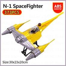 Star space wars série interestelar naboo espaço lutador blocos de construção montagem aeronaves modelo tijolos crianças diy brinquedos presentes natal