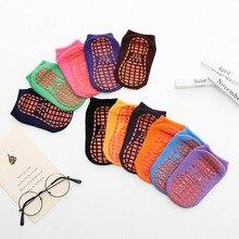 Girl Socks Spring Non-Slip Breathable Baby Cotton Summer Boy Autumn Home Candy-Color