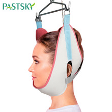 Adjustable Sling Cervical Traction Belt White Breathable Canvas Tractor Stretch Hood Neck Care Correction House Medical Equipmen