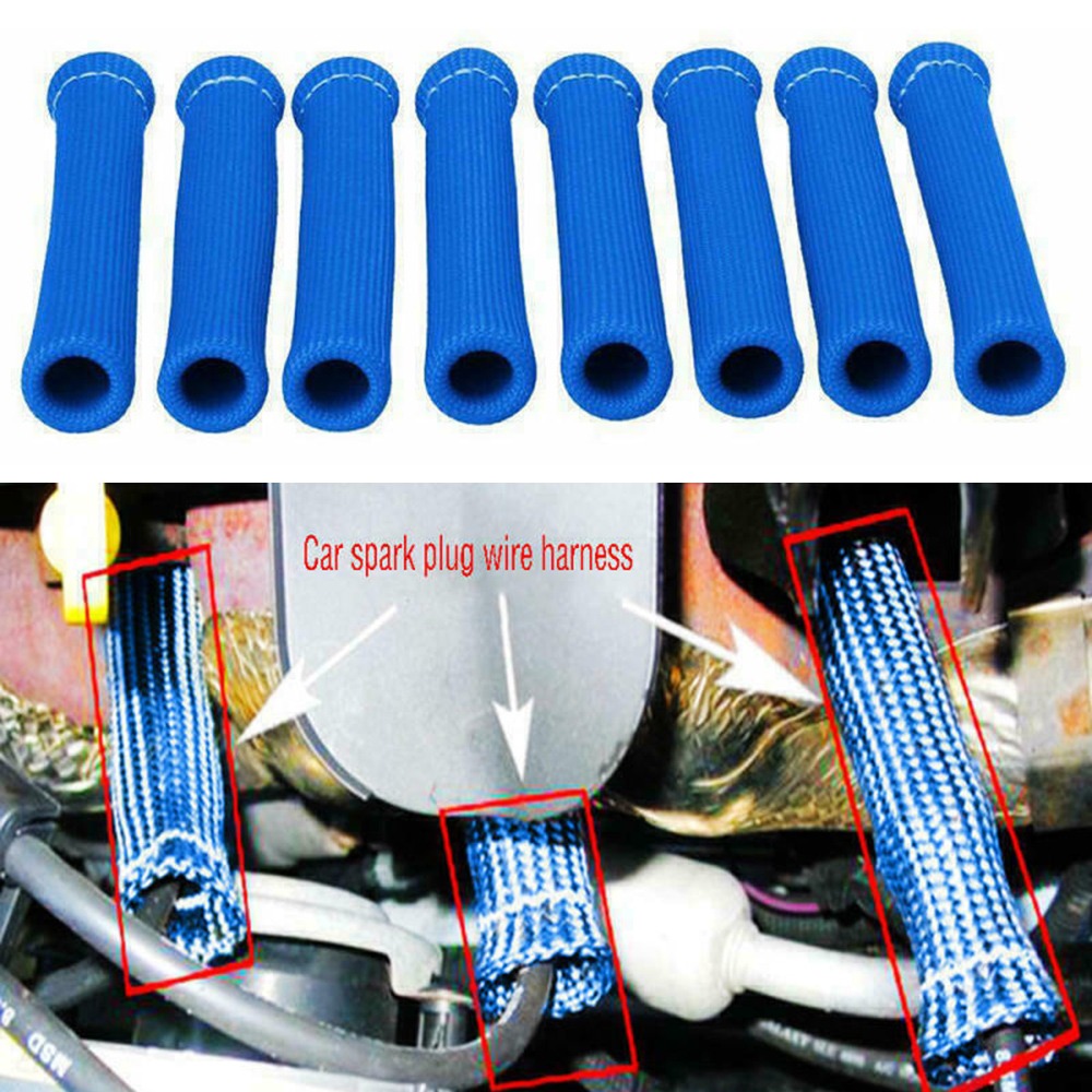 8pcs Car Spark Plug Wire Harness Boot Protector Sleeve Heat Shield Cover  Blue For Extreme Racing Street Cars Motor Homes|Ignition Coil| - AliExpress | Spark Plug Wire Harness |  | AliExpress