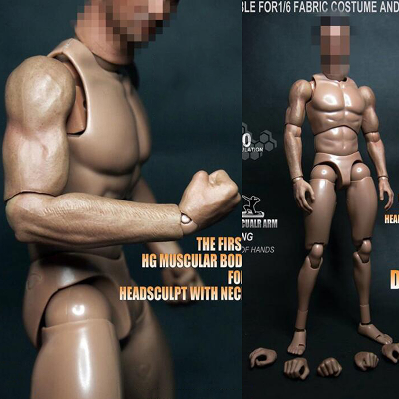 1/6 Scale S004 Male Man Boy Body Figure Military Chest Muscular Similar To TTM19 12