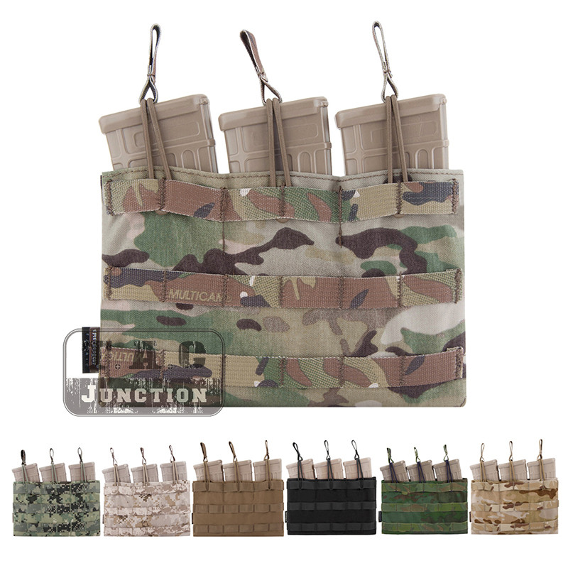 Emerson Tactical 5.56 .223 Triple Open Top Magazine Pouch Emersongear MOLLE/PALS Mag Pouch Webbing Pull Tabs Quick Accessories