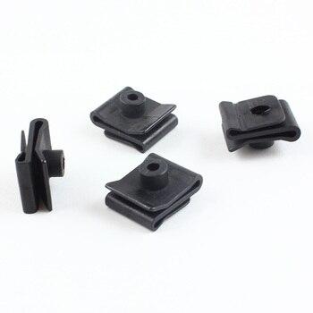 10Pcs Auto Body Fender Plastic Clips White For Nissan fender lined bumper U Nut Fixed Fastener