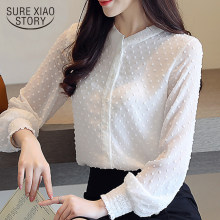 fashion woman blouses 2019 spring long sleeve women shirts white blouse tops office work wear women blouse shirt blusas 0974 60(China)