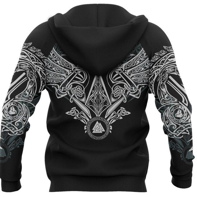 Фото viking pullover hoodie raven of odin 3d printed men women zip цена