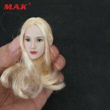 Glf 1/6 голова резная бледная лепить с золотыми волосами подходит