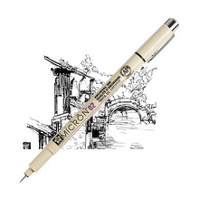 Sakura Pigma Micron Needle Pen XSDK Black color Marker Brush Liner for Sketch Drawing Design Manga Comic Anime Art supplies F922
