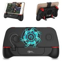 G2 kontroler Bluetooth PUBG Gamepad L1R1 wyzwalacz z wentylatorem chłodzącym gra uchwyt joysticka dla IOS Iphone Android telefon komórkowy