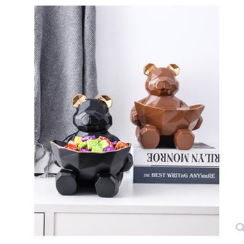 2020 European-style bear storage box, candy box, home decoration, beautiful animal crafts, decorative gifts