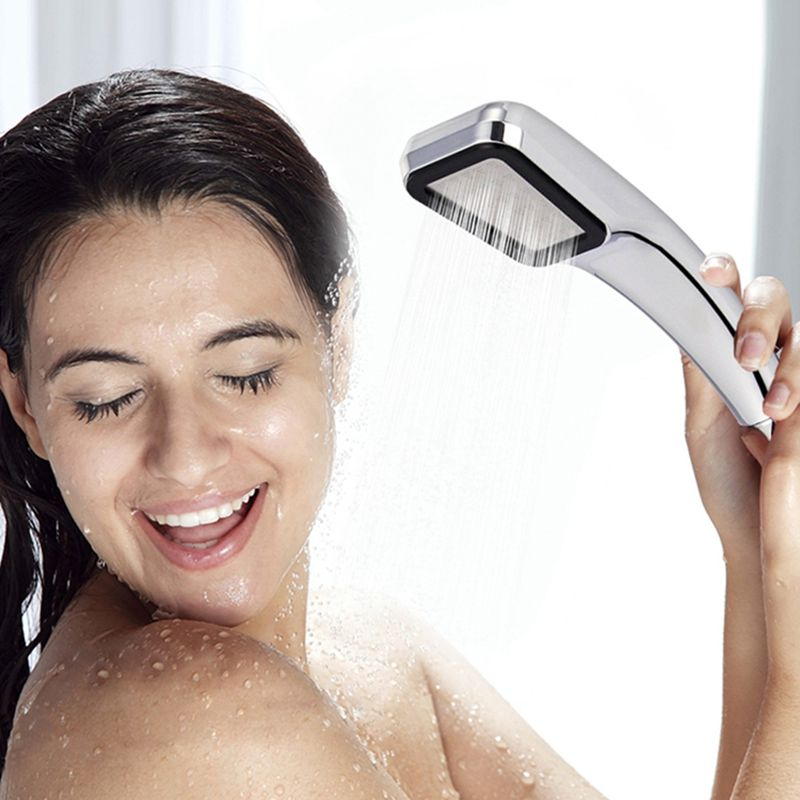 High Pressure Rainfall Shower Head Bathroom 300 Holes Water Saving Shower Head Powerfull Boosting Spray Handheld Shower Nozzle