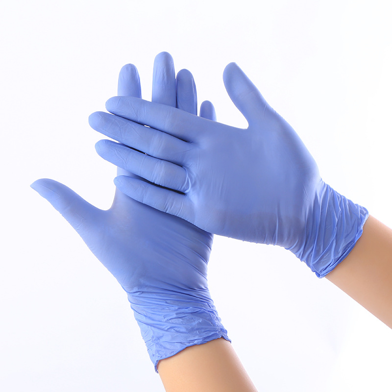100pcs Disposable Rubber Nitrile Gloves Food Grade Kitchen Gloves Non-slip Thick Protective Gloves Household Work Cleaning