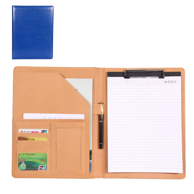1 Pcs A4 PU Leather File Folder Multifunction Office Supplies Organizer Manager Document Pads Briefcase Manager Folder