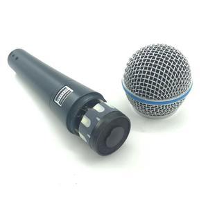 Image 5 - באיכות גבוהה גרסת Beta 58a ווקאלי קריוקי כף יד דינמי Wired מיקרופון BETA58 Microfone מייק Beta 58 A Mi
