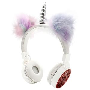 Image 1 - JINSERTA 2020 Unicorns Headphones Kids Headphone Wireless Bluetooth Stretchable Earphone Foldable Stereo Music Cartoon Headset