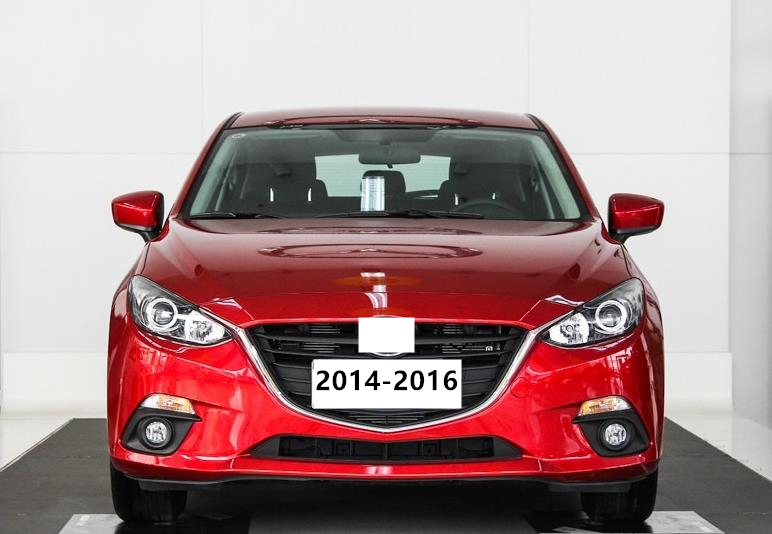 Fog Lamp Set 12V Fog Light Chrome Strip for Mazda 3 Front Lamp for Axela 2014-2017 Warning Lights Clearance Lights Marker Lamps