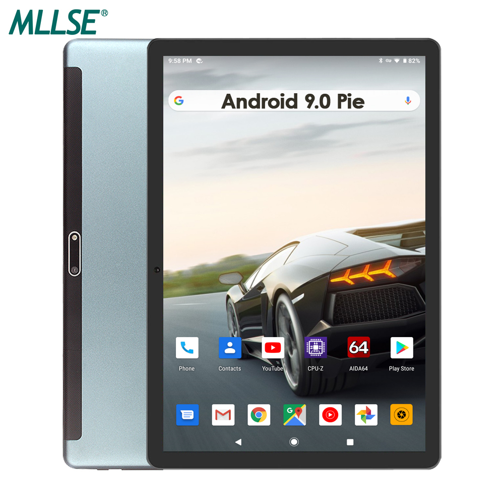 2020 Version 10 Inch Android 9 Tablet 3G Cell Phone Tablet 32GB EMMC 2.5D Glass 1280x800 HD Screen Wifi GPS Bluetooth Netflix