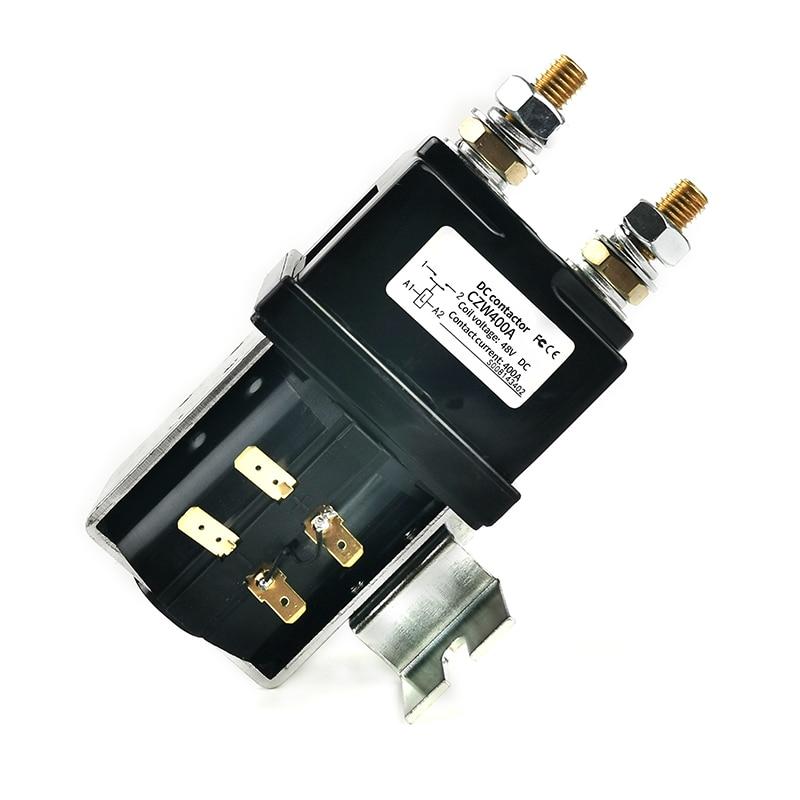 H617ab22ed8a94f9ea3237946c8efad82h - SW200 400A DC Contactor Normally Open 12V 24V 36V 48V 60V 72V DC Contactor CZW400A for forklift handling wehicle car winch