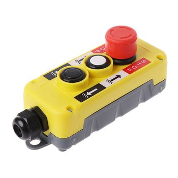 цена на Waterproof Industrial Push Button Switch Emergency Stop for Electric Crane Hoist Pendant Control Station 94PC