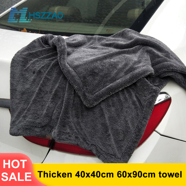 厚み余分なソフト洗車ワックスクリスタルマイクロファイバータオルカークリーニング乾燥布カーケア布ディテール車washtowel