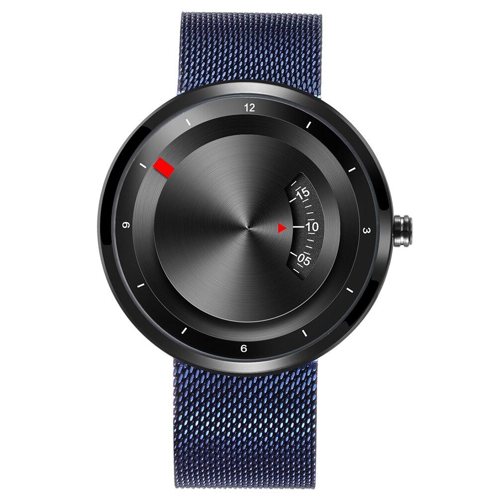 Wrist Watches Quartz Stainless-Steel Sport Top-Brand Fashion Luxury Skone Mesh-Strap