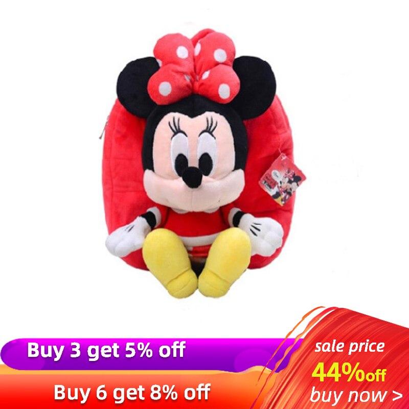 30cm Disney Minnie Mouse Mickey Plush Backpacks Mickey Mouse Bag For Kids School Peluche Dolls Girls Bag Brand Stuffed Toys