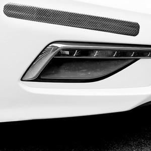 Image 4 - Carbon Fiber Rubber Moulding Strip Soft Black Trim Bumper Strips DIY Door Sill Protector Edge Guard Car Styling Car Stickers 1M