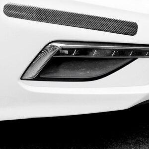 Image 4 - Karbon Fiber kauçuk kalıplama şerit yumuşak siyah Trim tampon şeritler DIY kapı eşiği koruyucu kenar koruyucu araba Styling araba çıkartmalar 1M