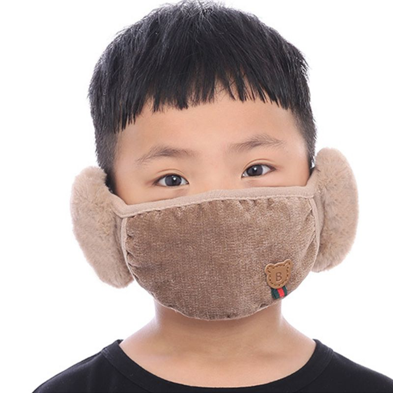 Winter Children Cartoon Mouth Mask Cute Boys Outdoor Anti Dust Windproof Masks