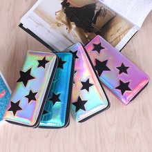 Wallet women cute wallet Star  purses  money bag   women wallets  and PU purses  Long  Star  Zipper handbag