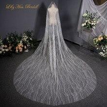 Блеск Bling Тюль Фата Один Слой Свадебные Блестящие 3.5х3 метра собор свадебные фата Бесплатная доставка