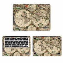 "Autocollant pour ordinateur portable carte du monde Vintage pour Apple Macbook Pro 16 ""Air Retina 11 12 13 15 pouces(China)"